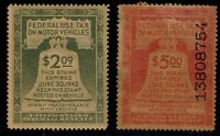 MOTOR VEHICLE USE REVENUE STAMPS 2 MINT