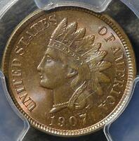 1907 PCGS MS65 INDIAN HEAD CENT  GEM IHP TRACES OF RED COPPER SHIPS FREE
