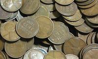 1915 D LINCOLN WHEAT CENT ROLL   50 COINS   CIRCULATED CONDITION LOW LOW PRICE