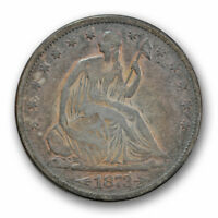 1873 S ARROWS LIBERTY SEATED HALF DOLLAR FINE TO FINE TOUGH DATE R1476
