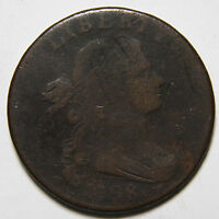 1798 ROTATED DIE DRAPED BUST LARGE CENT  COIN LOT MZ 3980