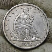 1843 SEATED LIBERTY HALF DOLLAR 50 CENTS. NICE COIN  5694