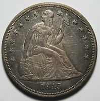 1845 SEATED SILVER LIBERTY DOLLAR $1 COIN LOT MZ 1317