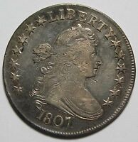 1807 DRAPED BUST HALF DOLLAR 50 COIN LOT MZ 1201