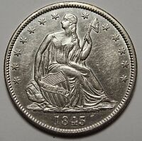1843 SEATED SILVER LIBERTY HALF DOLLAR 50 COIN LOT MZ 1086