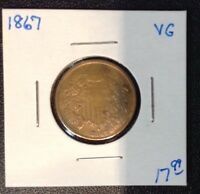 1867 2C SHIELD TWO CENT