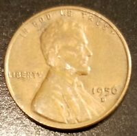 1956 D LINCOLN WHEAT CENT 6325