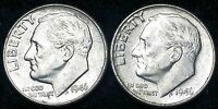 LOT OF 2 1946 ROOSEVELT 90 SILVER DIMES   10 CENTS
