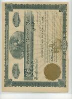 GEORGETOWN ILLINOIS NATIONAL BANK STOCK 1900'S
