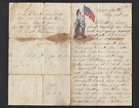 28TH ILLINOIS INFANTRY CIVIL WAR LETTER CAMP BUTLER, SPRINGFIELD, IL - CONTENT