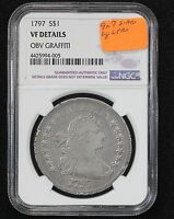 1797 BUST DOLLAR NGC VF 20 9 X 7 STARS LG LETTERS