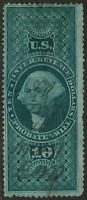 US R96C $10 REVENUE USED STAMP