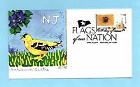 U.S. FDC 4308  SABRINA CURTIS CACHET NEW JERSEY FROM FLAGS OF OUR NATION