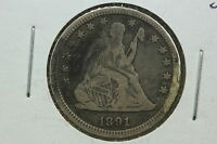 1891 SEATED QUARTER F