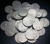 ROLL OF 40 1935 CANADA 5 CENT NICKELS SHIPPED FLAT TO REDUCE COST GREAT VALUE