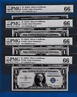 FR.1608  $1  1935 A  SILVER CERTIFICATE J 35095249 52 C BUY ONE NOTE OF 4  PMG