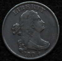1804 DRAPED BUST HALF CENT   NICE COIN   5188