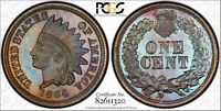 1864  PROOF INDIAN HEAD PCGS PR66BN   RAINBOW TONED   150 COIN MINTAGE