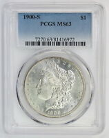 1900 S MORGAN SILVER DOLLAR MS 63 PCGS 6972