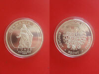 GERMANY GERMANIA 2009 PROOF OUNCE SILVER TOP