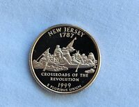 1999 S NEW JERSEY CLAD PROOF STATE QUARTER GEM CAMEO