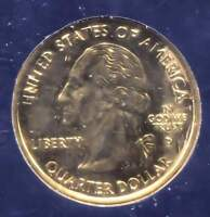 GOLD PLATED ILLINOIS LINCOLN STATE QUARTER 2003 D COIN   DENVER MINT