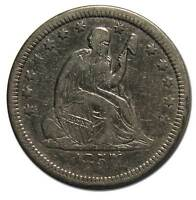 1857 SEATED LIBERTY QUARTER COIN LOT A 1844