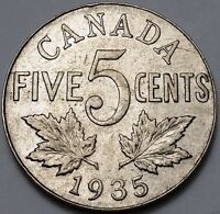 1935 CANADA 5 CENTS NICKEL  FREE COMBINED SHIPPING