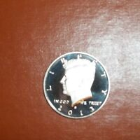 2013 S CLAD CAMEO PROOF KENNEDY HALF DOLLAR 50 CENTS