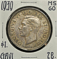 1939 CANADA ONE DOLLAR MS 60
