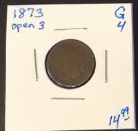 1873 1C INDIAN HEAD ONE CENT