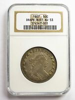 1807 HALF DOLLAR - DRAPED BUST - AU53 NGC - ONE OF THE HIGHEST GRADED