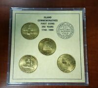 ISLAND COMMEMORATIVE FIRST COINS 250 YEARS 1740   1990 ST. THOMAS ST. JOHN