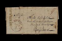 1813 STAUNTON, VA STAMPLESS WAR OF 1812 & MEDICAL LETTER,  ONE TO MARYLAND