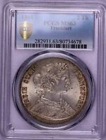 PCGS MS63 1861 FRANKFURT 2THALER  SILVER MUCH LUSTER