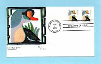 U.S. NON FDC 49924998  DAVE CURTIS CACHET BOTH KING ELDER STAMPS