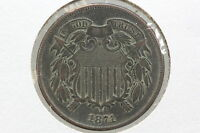 1871 TWO CENT AU FULL MOTTO