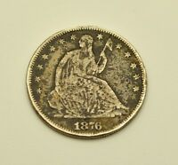 1876 SEATED LIBERTY SILVER HALF DOLLAR  SL50