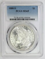 1880 S MORGAN SILVER DOLLAR MS 65 PCGS 9504