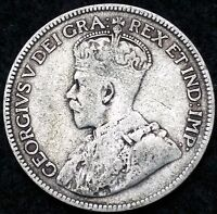 1935 CANADA 80 SILVER QUARTER   25 CENTS F CONDITION FREE COMBINED S/H