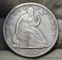 1857 O SEATED LIBERTY HALF DOLLAR 50 CENTS. KEY DATE 818,000 MINTED 5578