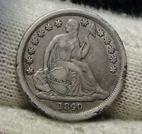 1840 SEATED LIBERTY DIME 10C    NICE COIN  6069