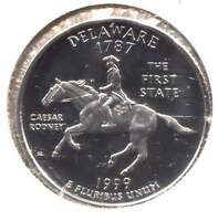 US DELAWARE CAMEO PROOF FIRST STATE QUARTER 1999 S COIN SAN FRANCISCO MINT