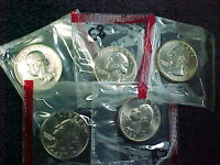 5   1985 D WASHINGTON QUARTERS FROM MINT SETS IN CELLO    BU