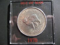 ISLE OF MAN ONE CROWN 1970 IN A SLIDING CASE.