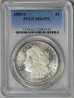1880 S  PCGS  MS65PL    OUTSTANDING MIRRORS    PROOF LIKE GEM    32985130