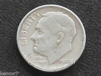 1949 S ROOSEVELT DIME 90 SILVER U.S. COIN D4243
