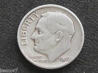 1949 S ROOSEVELT DIME 90 SILVER U.S. COIN D4247