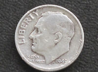 1949 S ROOSEVELT DIME 90 SILVER U.S. COIN D4248