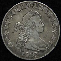1803 DRAPED BUST HALF DOLLAR 50 CENTS -  COIN SHIPS FREE 5234